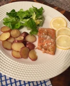 Homemade Honey Mustard Salmon & Potatoes