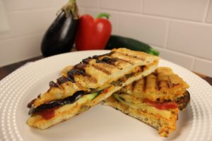 Roasted Red Pepper Veggie Panini