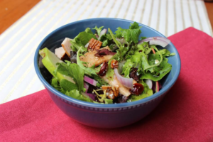 Turkey Cranberry Pecan Salad with Balsamic Vinaigrette