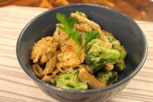 Skinny Chicken and Broccoli Alfredo