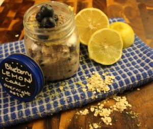 Blueberry Lemon Cake Overnight Oats