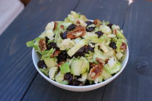 Brussels Sprout Salad with Dried Cherries 2