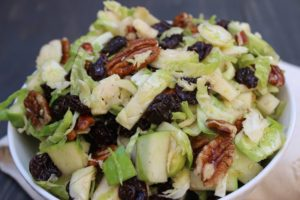 Brussels Sprout Salad with Dried Cherries 3